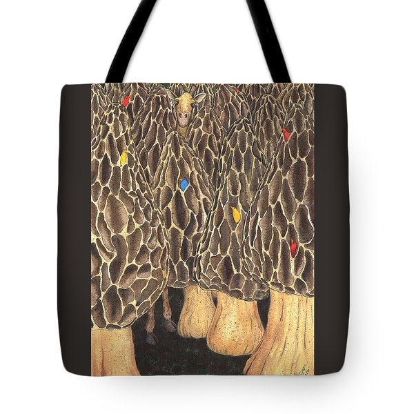 It's Like Looking For A Giraffe In A Forest Of Morels. Tote Bag