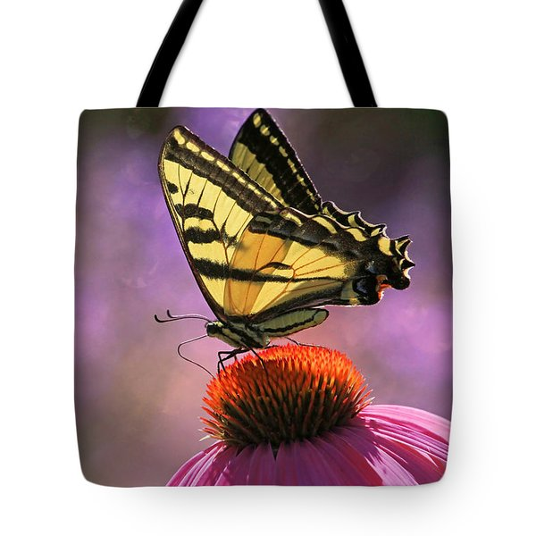 It's Lonely At The Top Tote Bag by Donna Kennedy