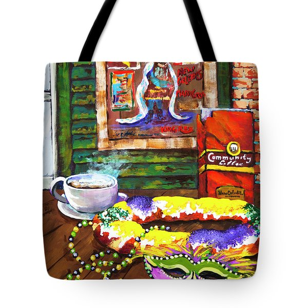 It's Mardi Gras Time Tote Bag