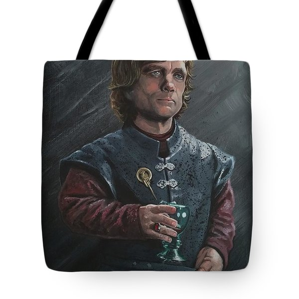 Tote Bag featuring the painting It's Not Easy Being Drunk by Jennifer Hotai