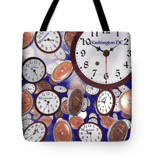 It's Raining Clocks - Washington D. C. Tote Bag