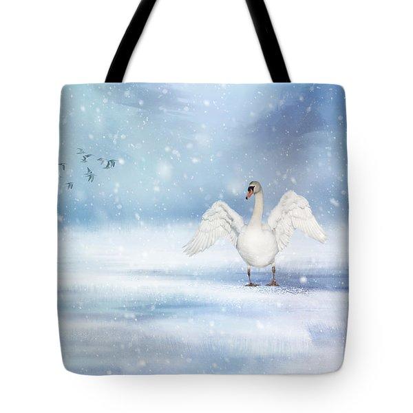 It's Snowing Tote Bag