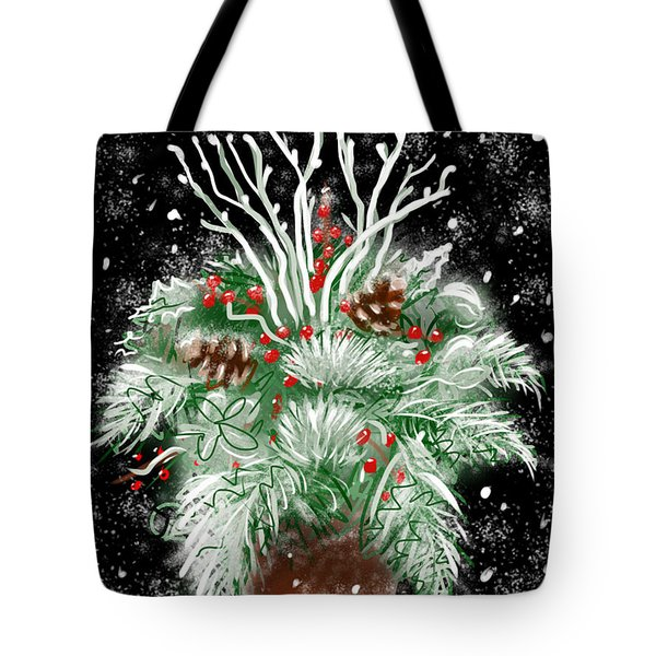 It's Snowing Tote Bag by Jean Pacheco Ravinski