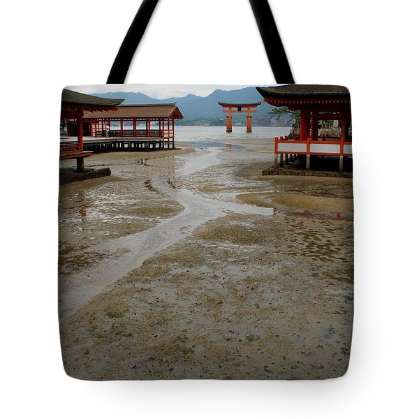 Itsukushima Shrine And Torii Gate Tote Bag
