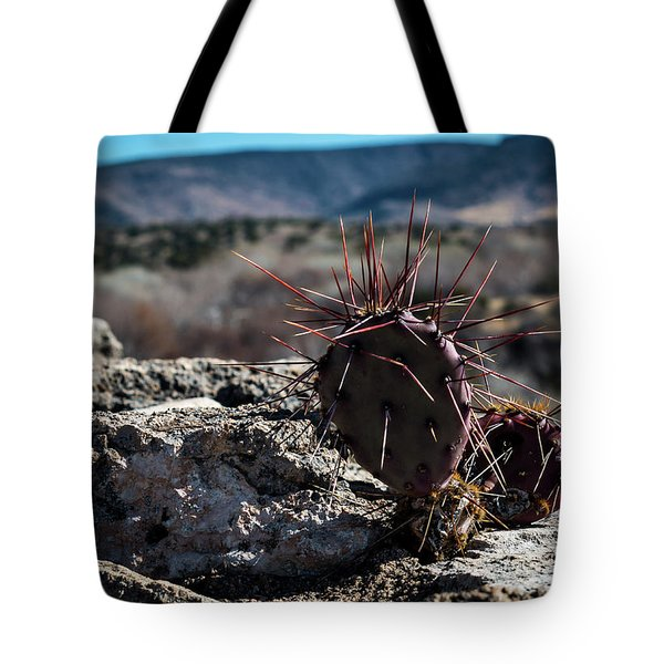 Itty Bitty Prickly Pear Cactus Tote Bag