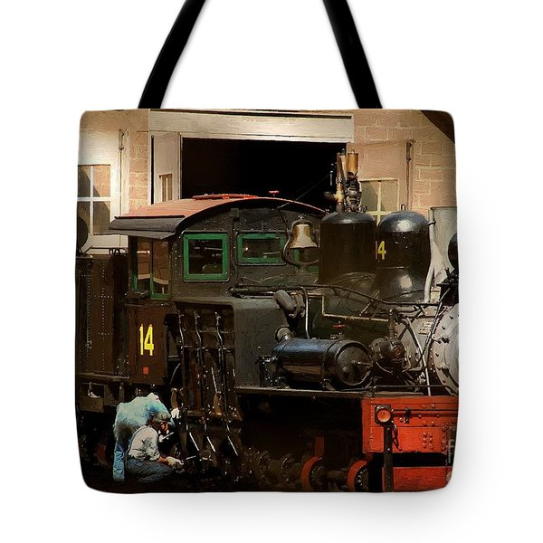 I've Been Working On The Railroad Tote Bag by RC DeWinter