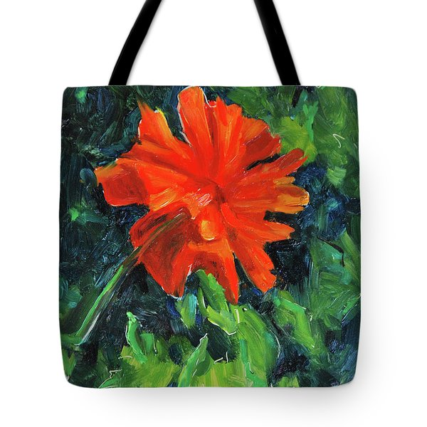 Tote Bag featuring the painting I've Got My Red Dress On by Billie Colson