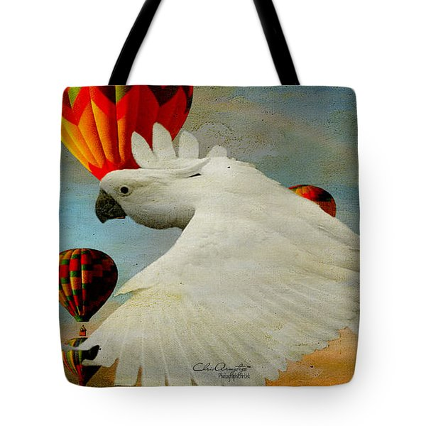 Tote Bag featuring the photograph I've Got Wings by Chris Armytage