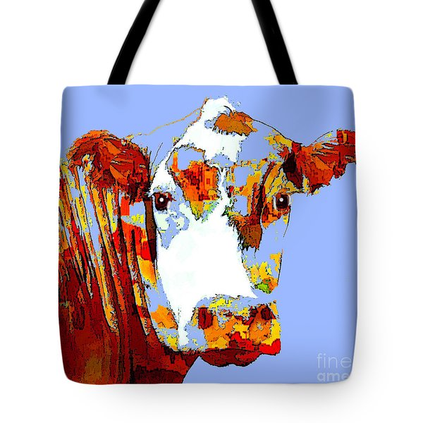 Purple Cow Tote Bag