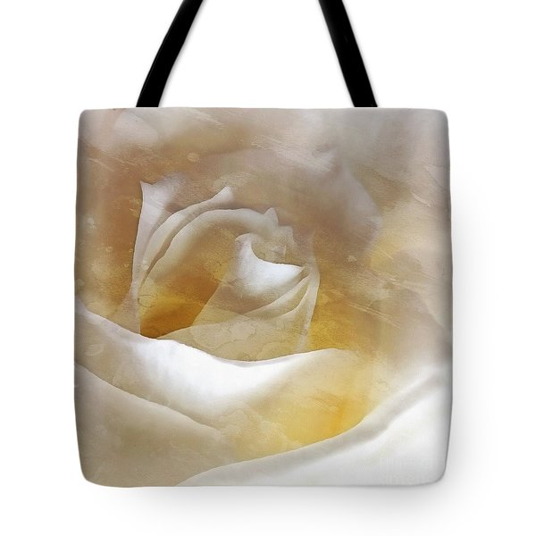 Tote Bag featuring the photograph Ivory Rose - An Affair To Remember   by Janine Riley