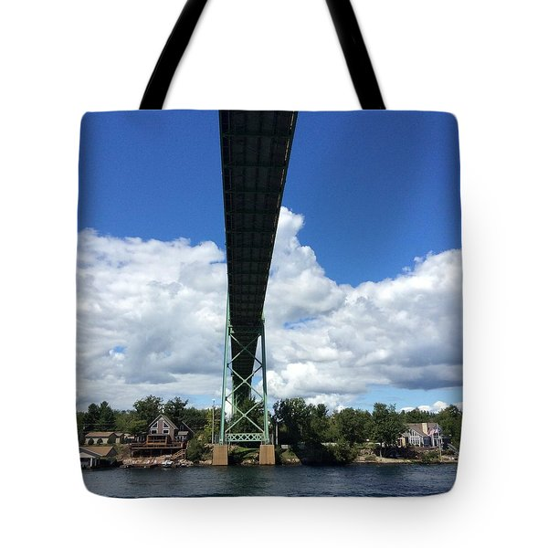Tote Bag featuring the photograph Ivy Lea Bridge by Pat Purdy