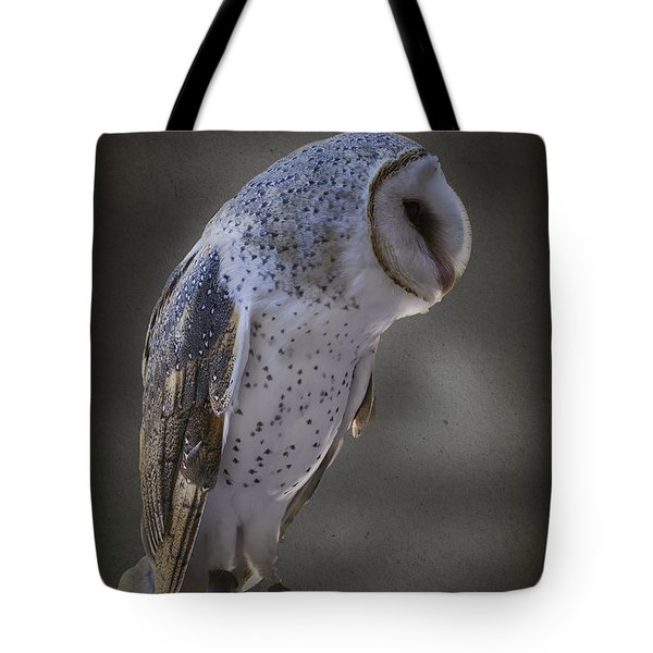 Tote Bag featuring the photograph Ivy The Barn Owl by Elaine Teague