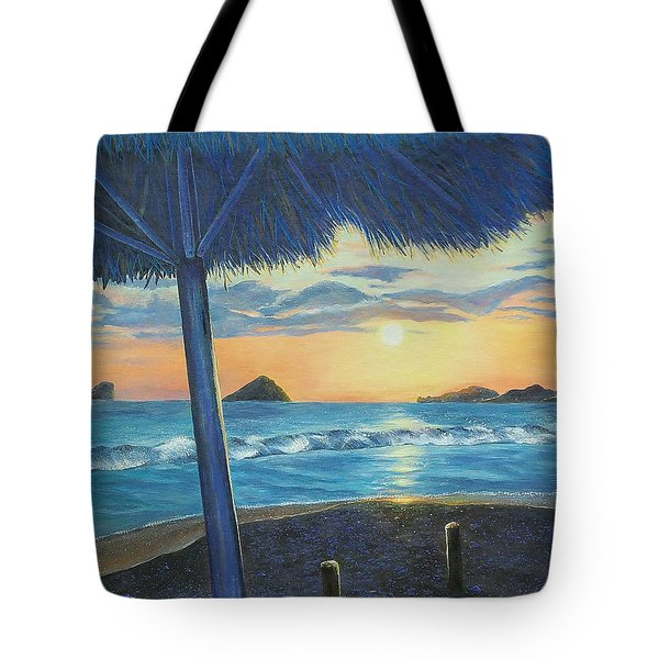 Tote Bag featuring the painting Ixtapa by Susan DeLain