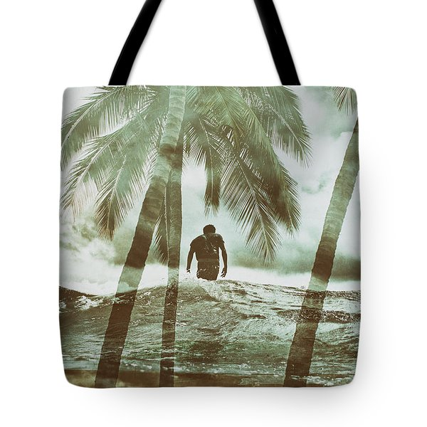 Izzy Jive And Palms Tote Bag