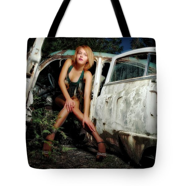 Izzy's Buick Tote Bag by Jerry Golab