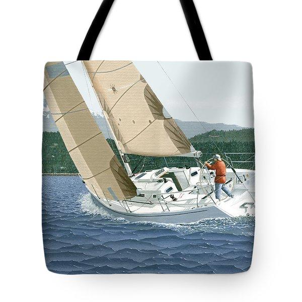 J-109 Sailboat Sail Boat Sailing 109 Tote Bag