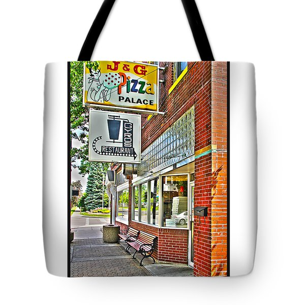 J And G Pizza Palace Tote Bag