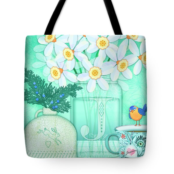 J Is For Jar Of Jonquils Tote Bag
