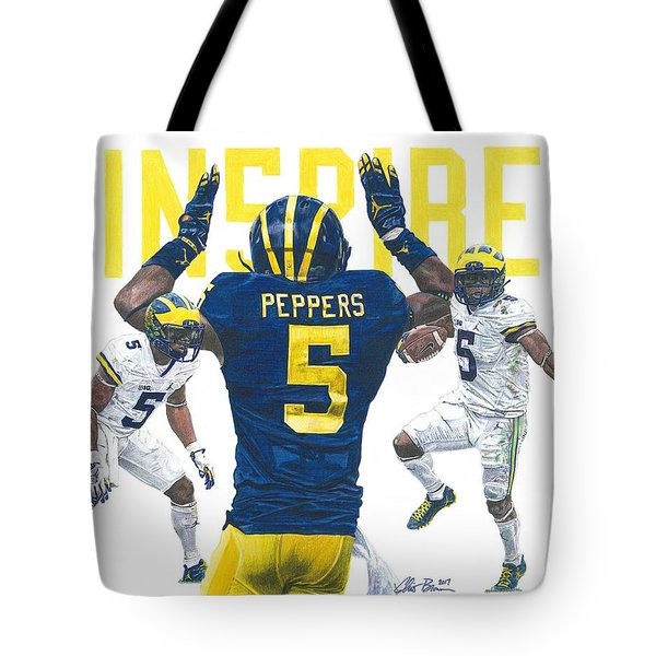Jabrill Peppers Tote Bag