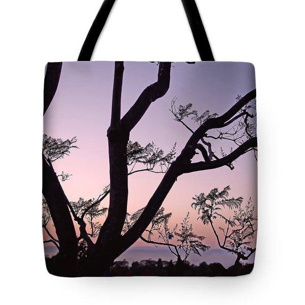 Jacaranda Silhouette Tote Bag