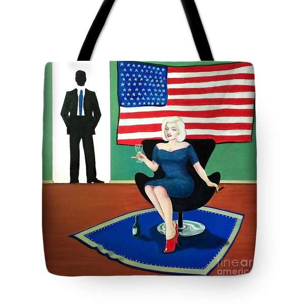 Jack And Marilyn Tote Bag