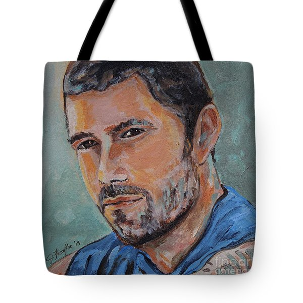Jack From Lost Tote Bag by Jeanne Forsythe