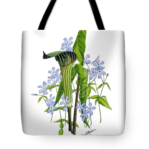 Jack-in-the-pulpit With Wild Sweet Williams Tote Bag