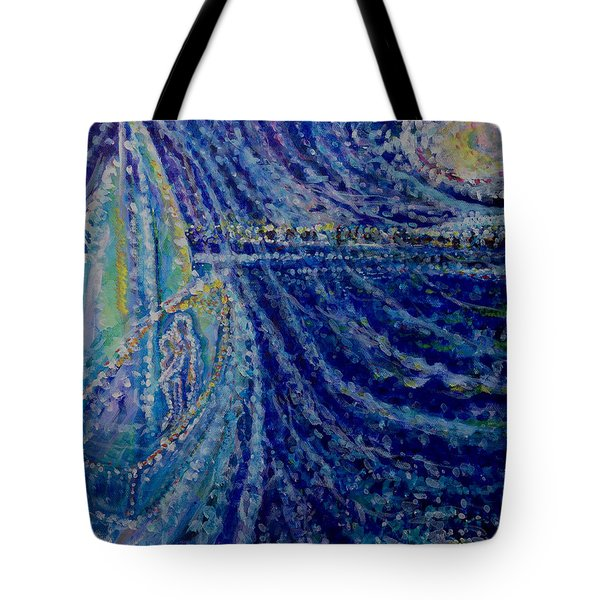 Ghost Ship Tote Bag by Holly Carmichael