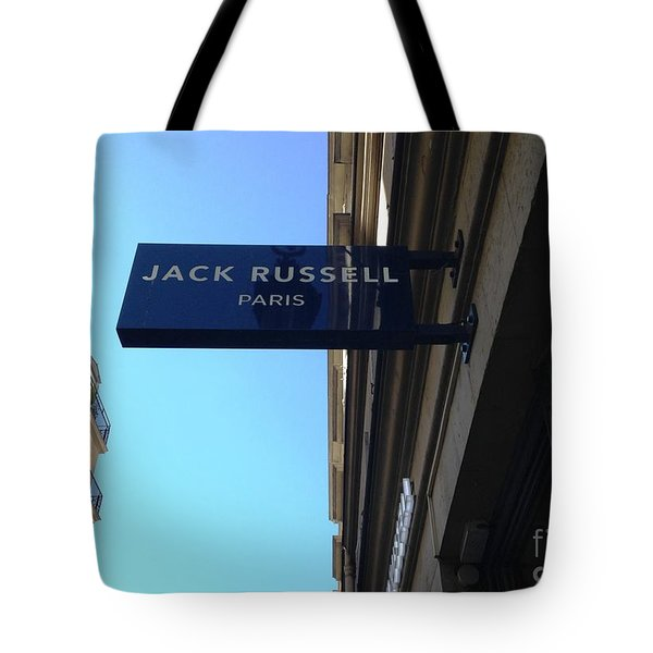 Tote Bag featuring the photograph Jack Russell Paris by Therese Alcorn