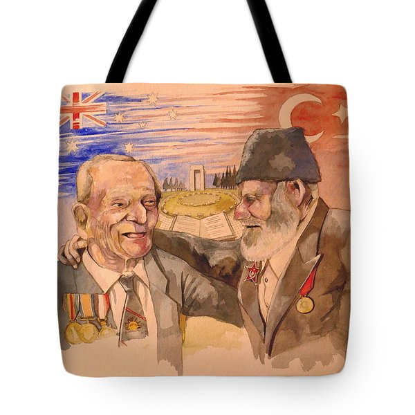 Jack Ryan And Hyseyin Kacmaz Tote Bag by Ray Agius