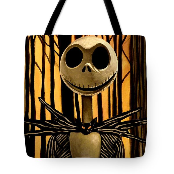 Jack Skelington Tote Bag by Tom Carlton