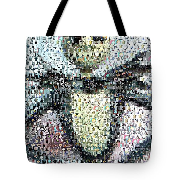 Jack Skellington Mosaic Tote Bag by Paul Van Scott
