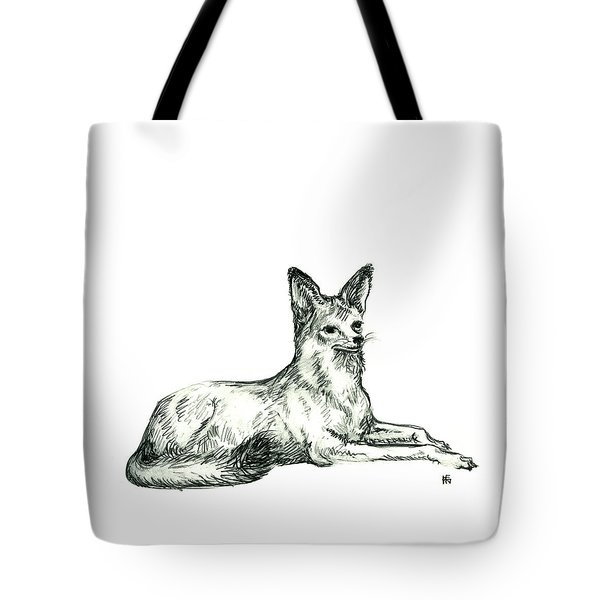 Jackal Sketch Tote Bag