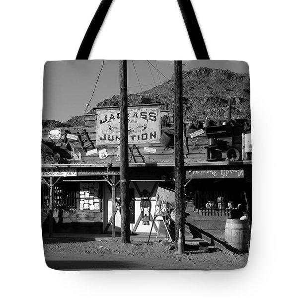 Jackass Junction Tote Bag by David Lee Thompson