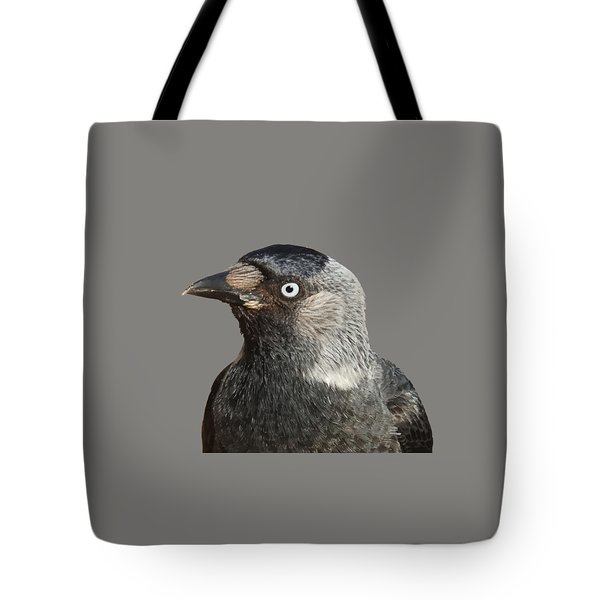 Jackdaw Corvus Monedula Bird Portrait Vector Tote Bag
