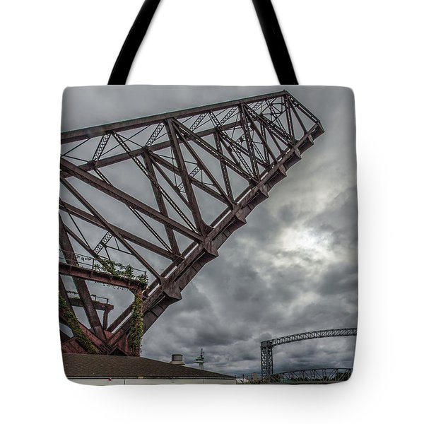Jackknife Bridge To The Clouds Tote Bag