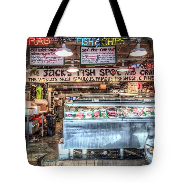 Jacks Fish Spot And Crab Pot Tote Bag