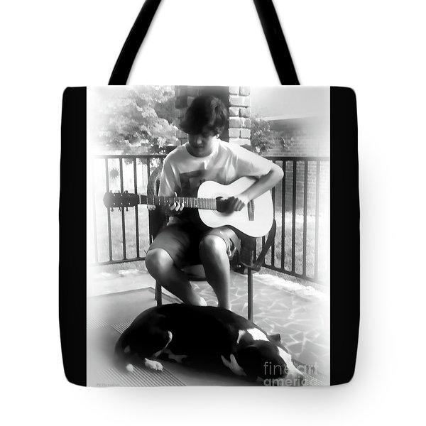Jackson Bw Tote Bag by Patricia L Davidson