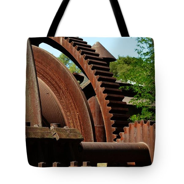 Jackson Gears 2 Tote Bag by Nancy Manning