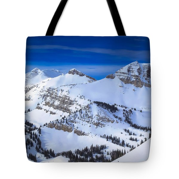 Jackson Hole, Wyoming Winter Tote Bag