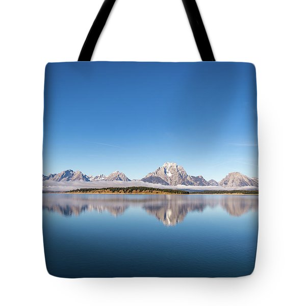 Tote Bag featuring the photograph Jackson Lake by Mary Hone