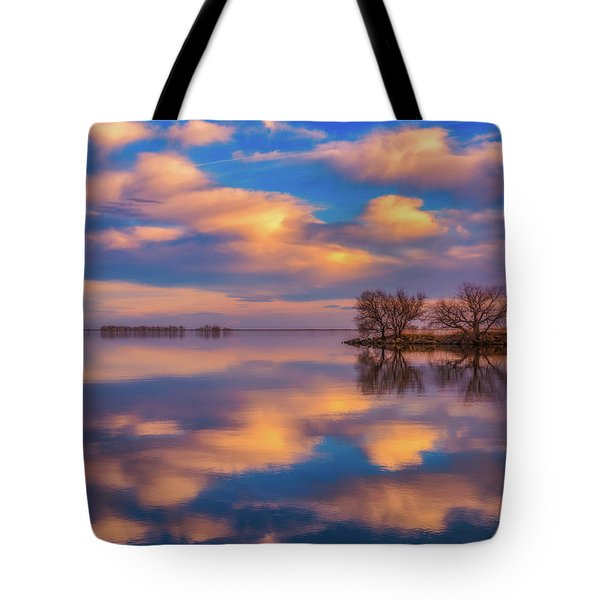 Tote Bag featuring the photograph Jackson Lake Sunset by Darren White