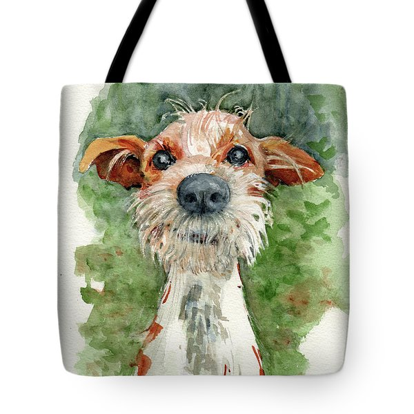 Tote Bag featuring the painting Jackson by Lora Serra