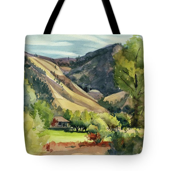 Tote Bag featuring the painting Jackson Solitude by Kris Parins