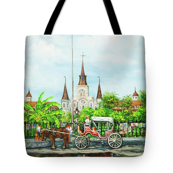 Jackson Square Carriage Tote Bag