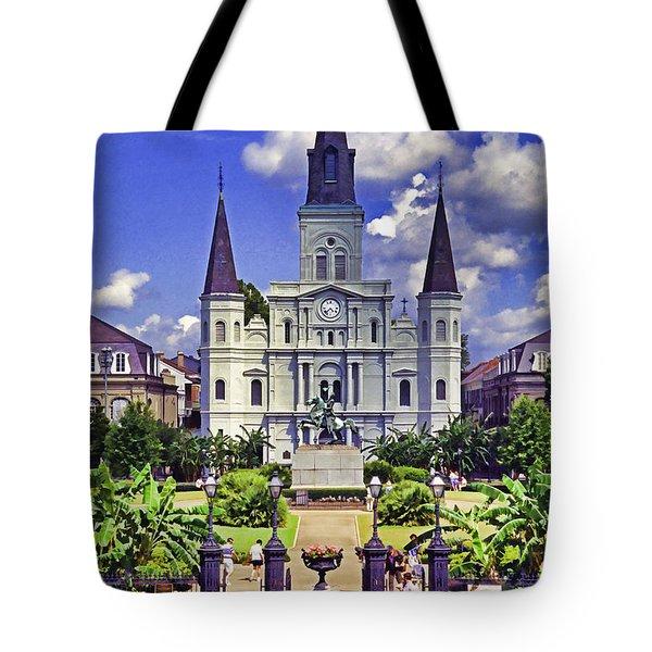Jackson Square Tote Bag by Dennis Cox WorldViews