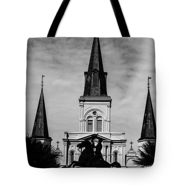 Jackson Square - Monochrome Tote Bag