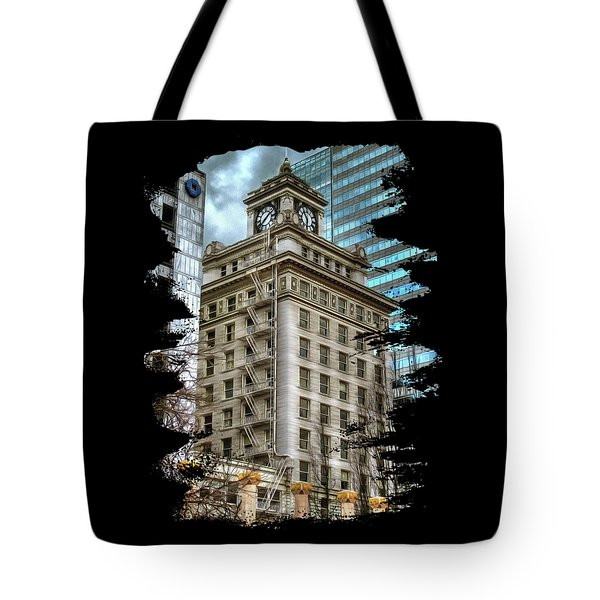 Jackson Tower Portland Oregon Tote Bag