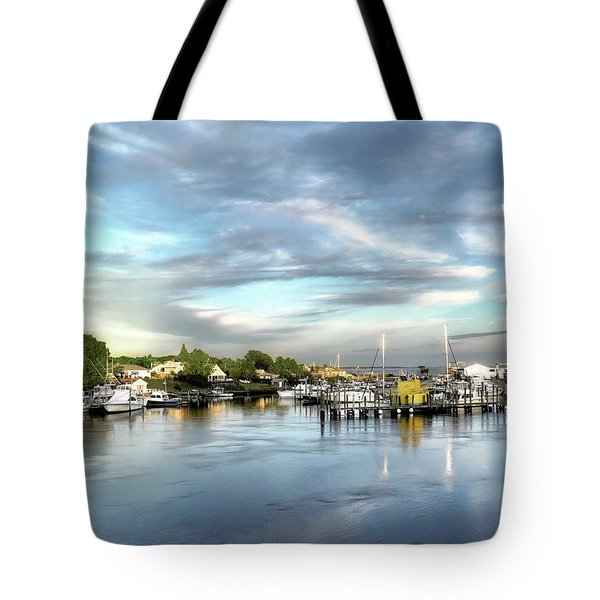 Hampton Bays Marina Tote Bag