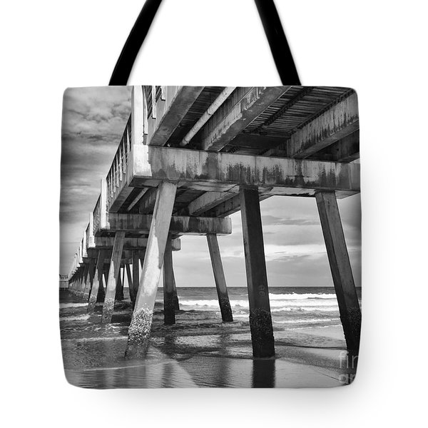 Jacksonville Beach Florida Usa Pier Tote Bag